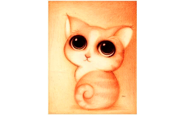 Котенок милый рисунок