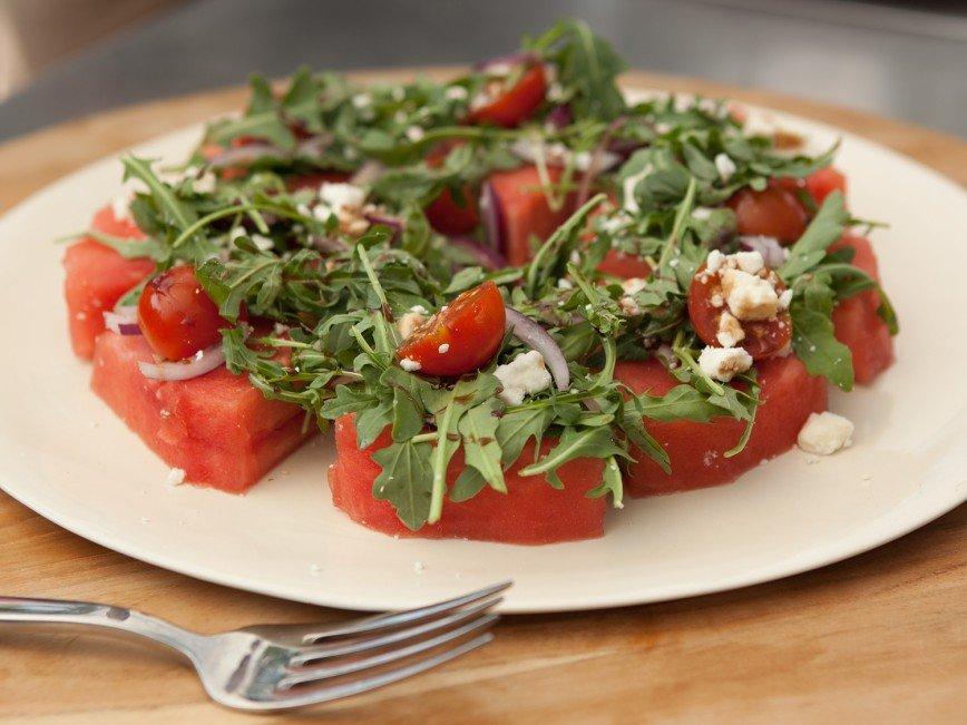 Арбузный салат за 5 минут