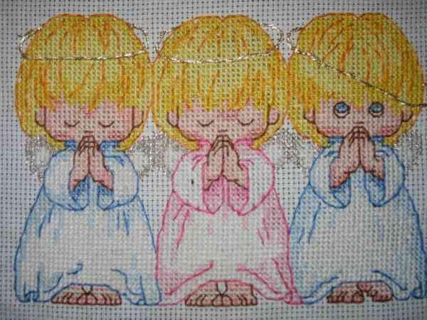 Три ангелочка вышивка для беременности