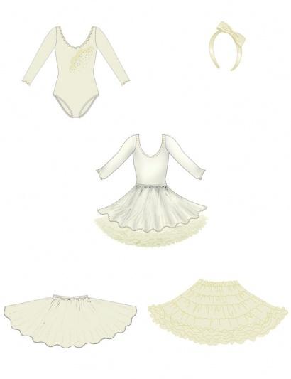 Карнавальный костюм для девочек PSHK041103 3220 руб Размер 6,8  Цвет  Карамель  Комплект одежды для девочек (юбка,подъюбник,боди,ободок) Цена 3220р