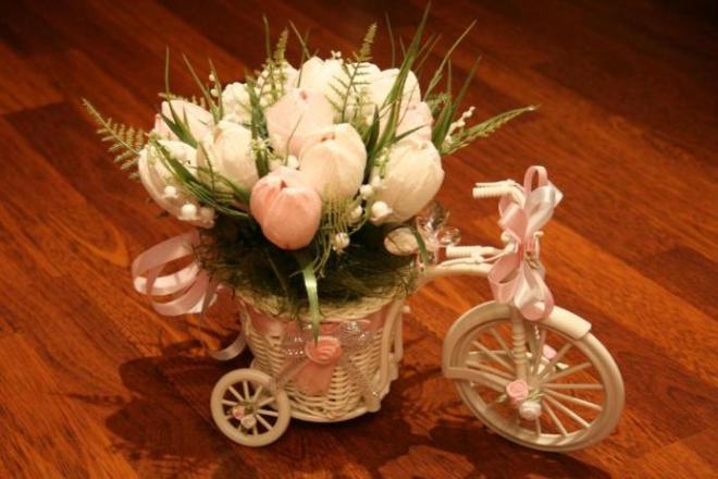 Велосипед из конфет своими руками мастер класс
