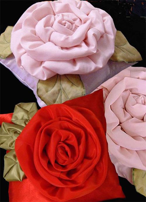 Цветы большие из ткани своими руками