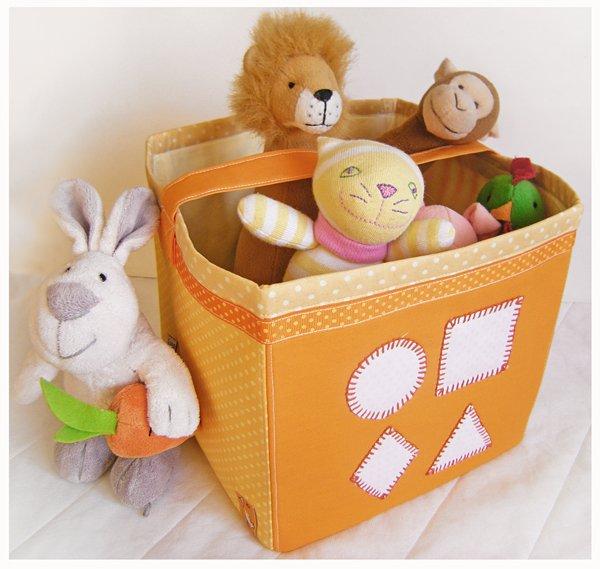 Как сшить короб для игрушек своими руками