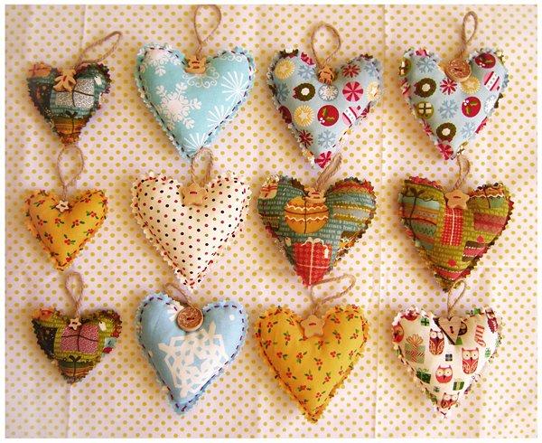 Сердечки и мешочки Рукоделие Дом