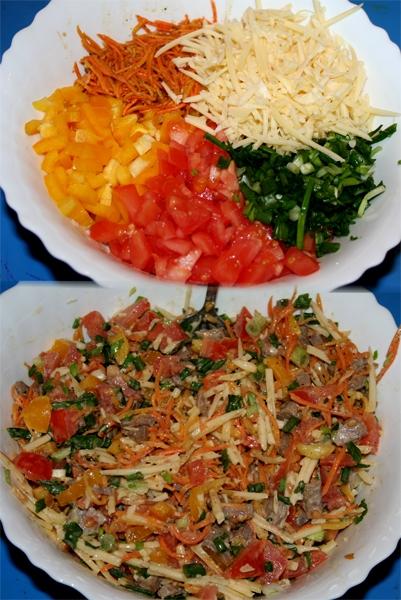 Салат радуга с болгарским перцем рецепт
