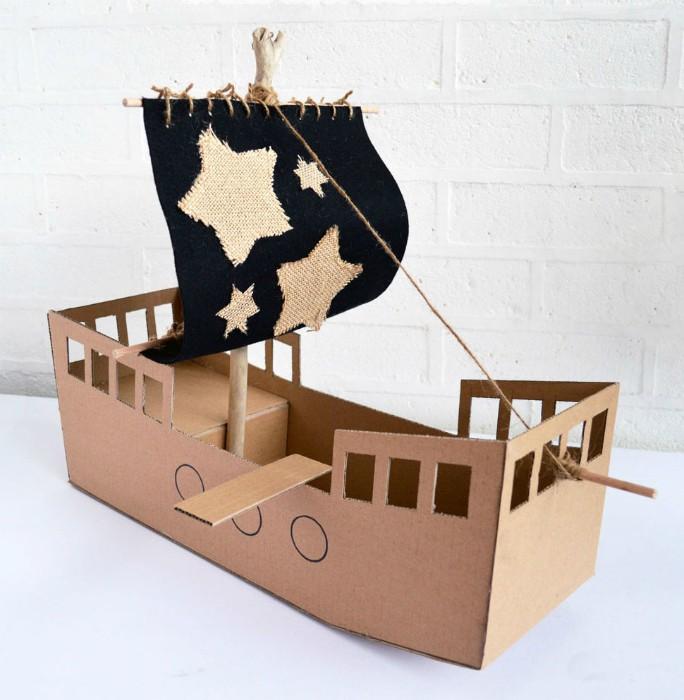 Поделки из картона кораблики 60