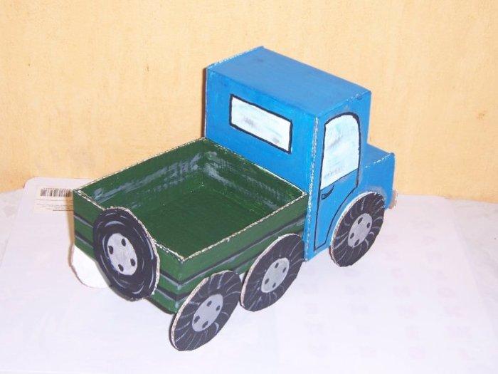 Поделки грузовики из бумаги