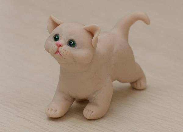 Как из глины сделать кошку видео