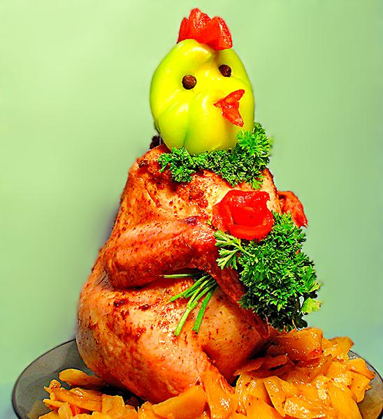 Как украсить курицу блюдо