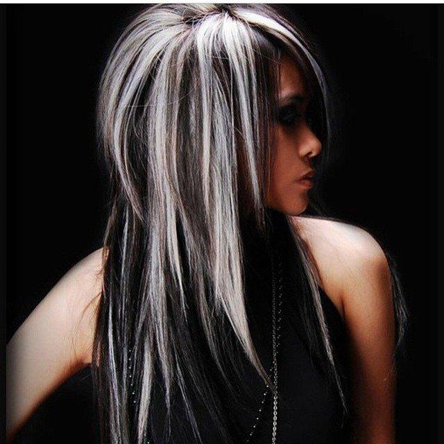 Окрашивание волос в черный и белый цвет