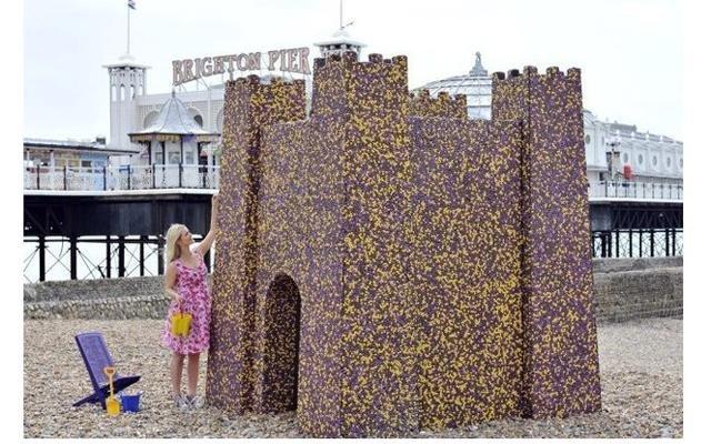 В Великобритании  построили замок из шоколада