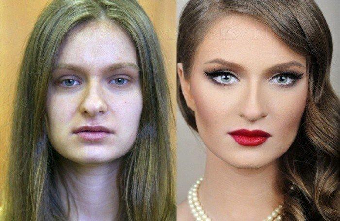 Девушки безшопа и макияжа