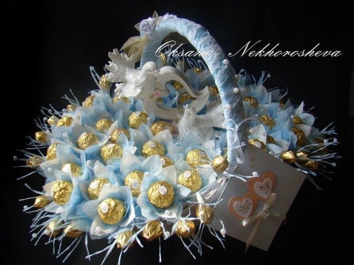 Как сделать своими руками букет из конфет для свадьбы