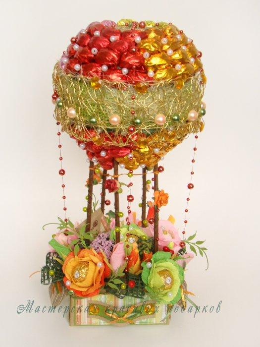 Воздушный шар своими руками из конфет 25