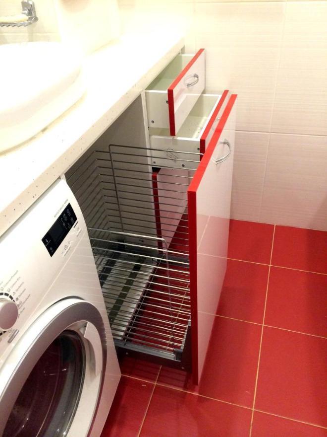 """Шкафчик в ванную """"Р1"""" (другой ракурс).  МДФ, ширина ок. 1.10 м."""