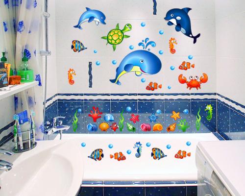 Рисунки в ванную комнату своими руками