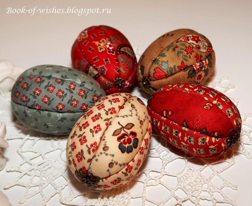 Пасхальные яйца в технике кимекоми, размер 7 см.