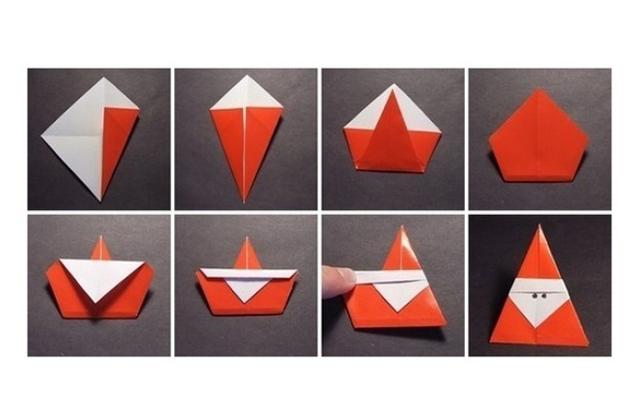 Оригами для детей для нового года