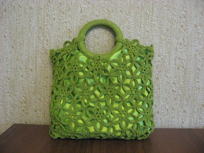 Вязание сумок из мотивов 224