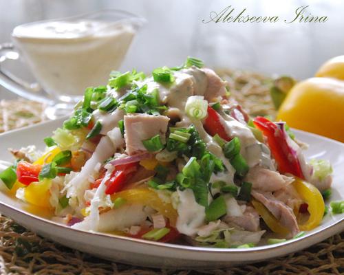Салат радуга рецепт и курицей