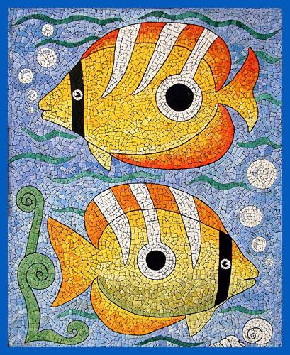 Рисунок для мозаики из скорлупы
