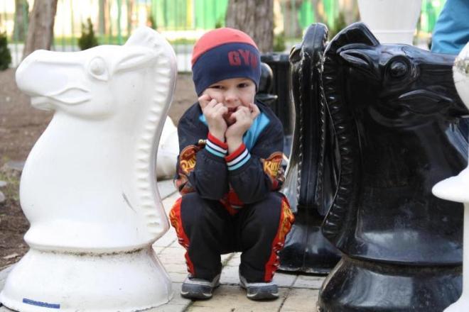 Юный Каспаров.