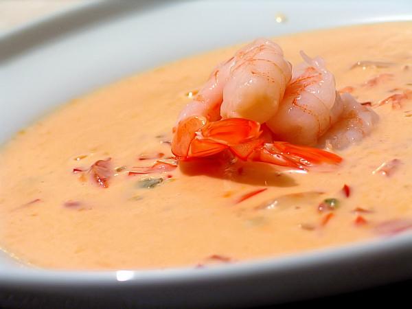 Суп с креветками и с сливками рецепт с пошагово