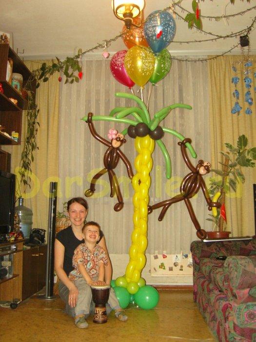 Как сделать пальму своими руками из шаров