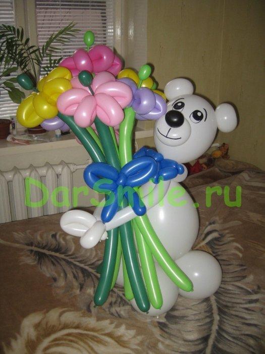 Мишка из воздушных шаров своими руками пошаговое