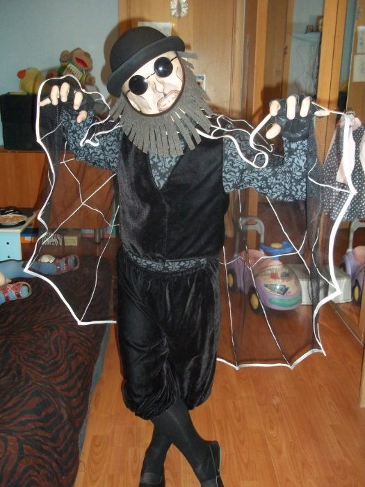 Паук из мухи цокотухи костюм своими руками