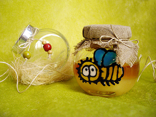 Украсить баночку с медом