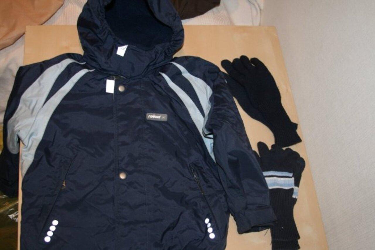 Комплект: куртка РеймаТек весна/осень 98+6 штаны 92+6 штаны 98+6 (дефект по низу) бонусом перчатки Рейма шерсть, х/б Цена за комплект 3000 р