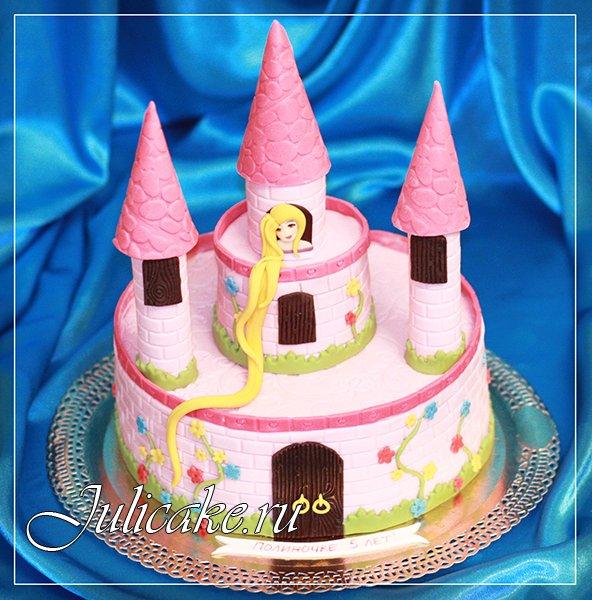 Детский торт замок с фото на день рождения