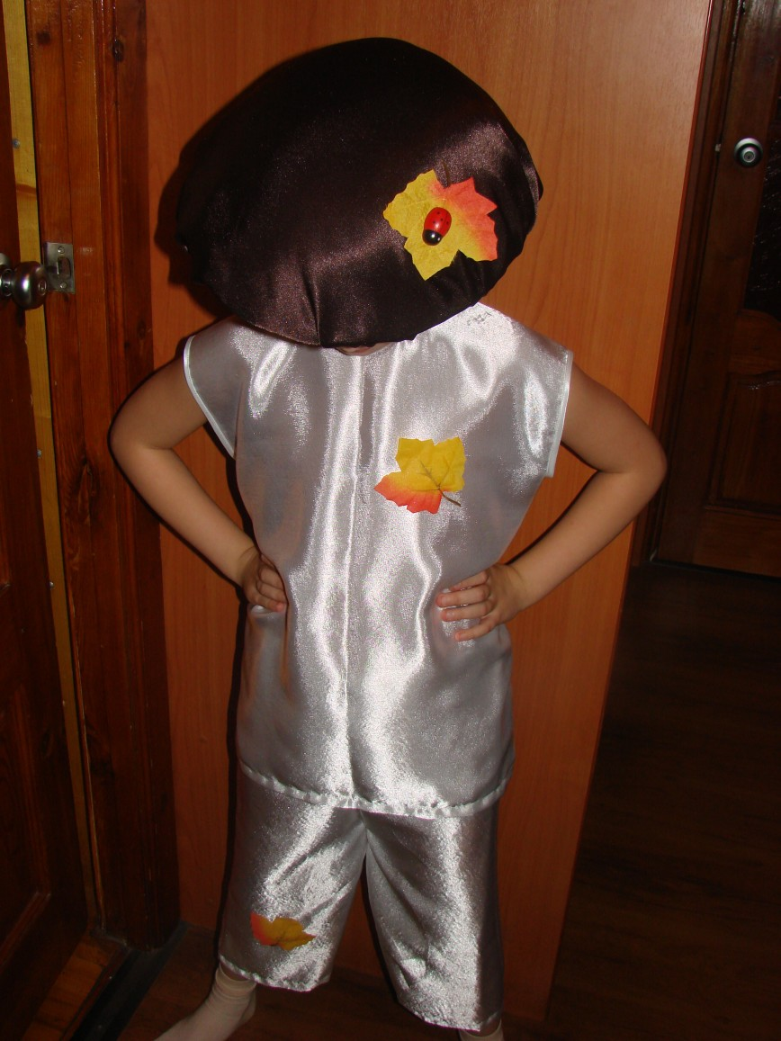 Детский костюм белого гриба