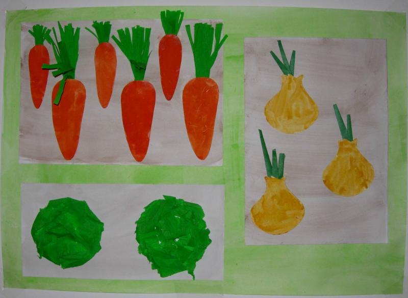 Поделка из бумаги на тему овощи и фрукты 675