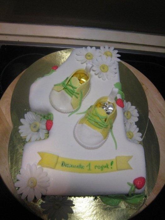 """Торт """"Еденичка с ромашками"""""""