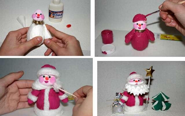 Как сделать из простой игрушки новогоднюю