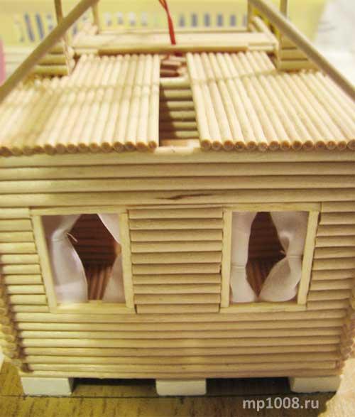 Дом из палок своими руками 88
