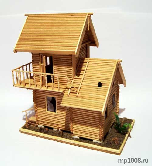 Дом из палок своими руками
