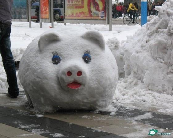 Горку из снега своими руками фото