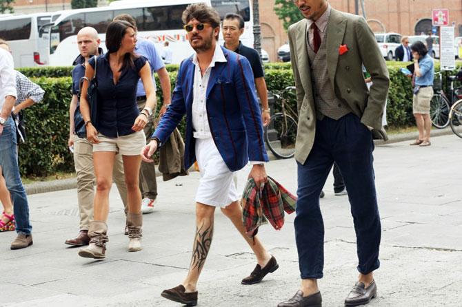 Italian-businessman walking the streets