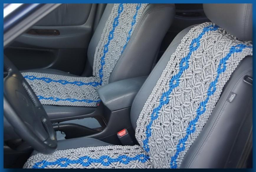 Накидка на сиденье в машину своими руками