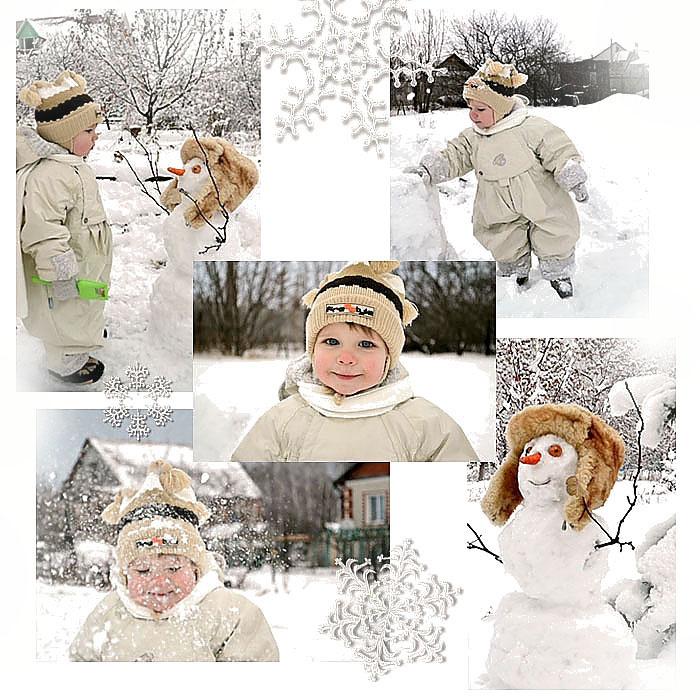 как создать зимний коллаж из фото