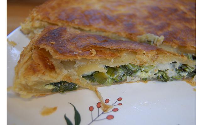 Луковый пирог из зеленого лука рецепт