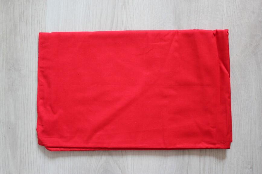 Ткань ситец или бязь, ярко-алая. Винтаж. Размер 80*250см. 300р