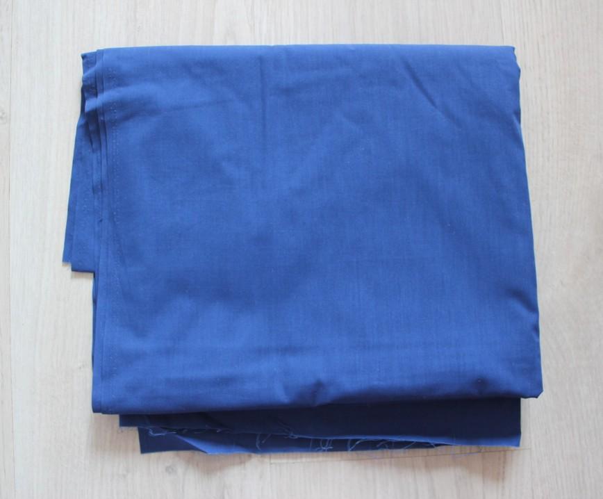 Ткань хлопок, поплин, очень качественная, насыщенно-синяя. Винтаж. Размер 115*300см. 400р