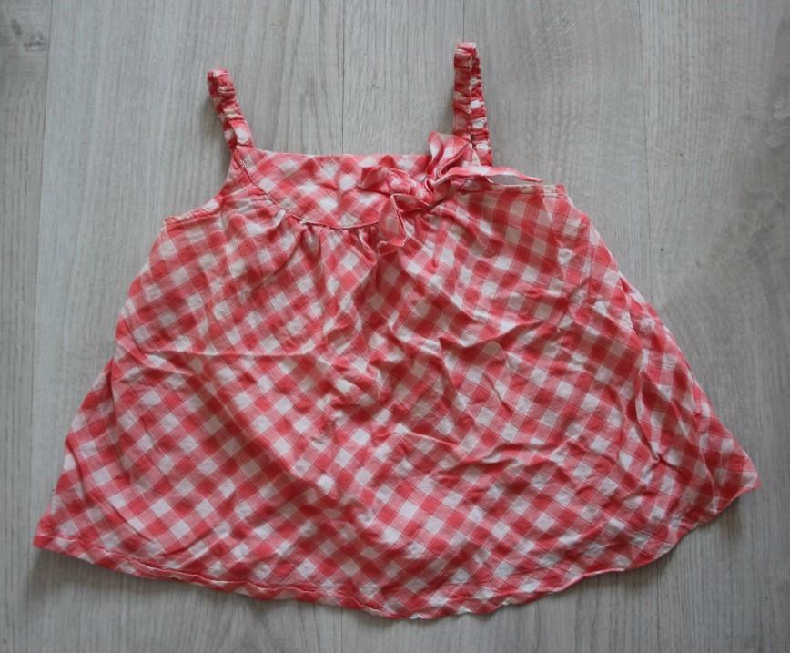 Блуза в красную клетку Zara Baby, на 18-24мес (86см), легкая летняя, в идеале. 100р