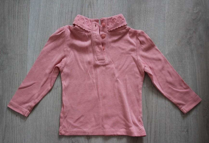 Блуза Mothercare с воротничком, на 9-12 мес (80см), розовая, в идеале. 150р