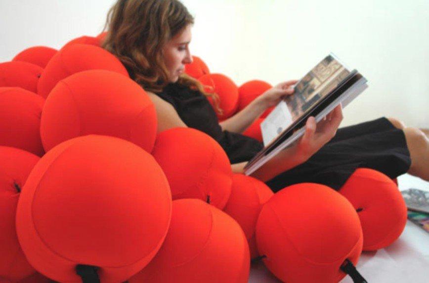 Feel Seating System — кровать из мягких шаров