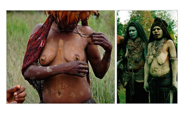7 странных стандартов красоты: Как ни странно, в глазах их мужчин барышня на фото слева заметно уступает в привлекательности женщинам на правой фотографии. И